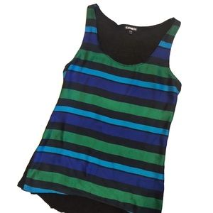 Express Multicolor Stripe Silky Top